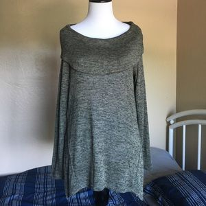 ✅NWT- Olive Foldover Sweater